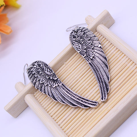 Silver Gaurdian Angel  Earrings