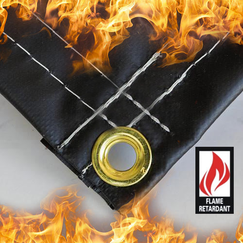 Certified 18oz Fire Retardant Vinyl Tarps