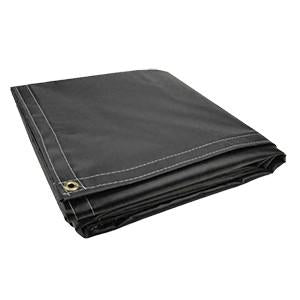 All Sizes 18oz Heavy Duty Vinyl Tarps - Black - Start at $23.49