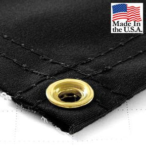 Super Heavy Duty Black Synthetic Canvas Tarps - All Sizes - 14.5oz