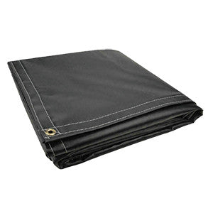 8 x 10 Black 18oz Vinyl Tarp