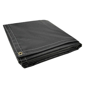 6 x 8 Black 10oz Vinyl Tarp