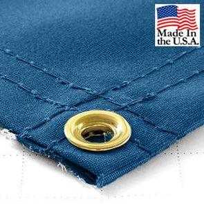 Super Heavy Duty Blue Synthetic Canvas Tarps - All Sizes - 14.5oz