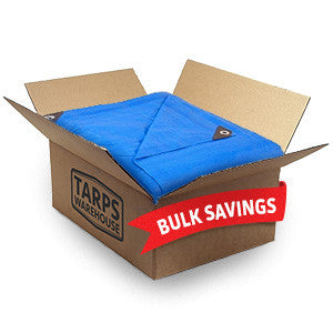 12 x 12 Blue Poly Tarps - 6 Per Case
