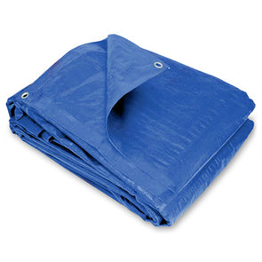 100 x 100 Light Duty Blue Poly Tarp