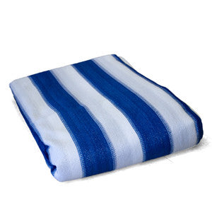 6 x 20 Blue/White Striped Mesh Tarp