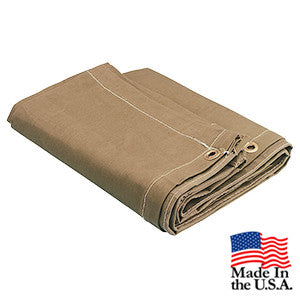 10 x 10 Brown 16oz Canvas Tarp