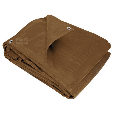 9 x 12 Brown Poly Tarp