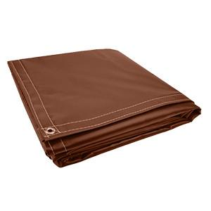 All Sizes 18oz Heavy Duty Vinyl Tarps - Brown - Start at $23.49
