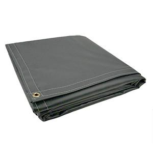 All Sizes 18oz Heavy Duty Vinyl Tarps - Charcoal - Start at $23.49