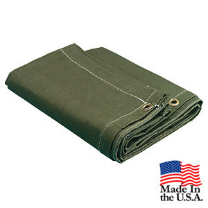 8 x 10 Green 16oz Canvas Tarp