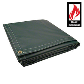 10 x 16 Green Certified Fire Retardant 18oz Vinyl Tarp