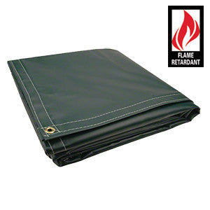 10 x 12 Green Certified Fire Retardant 18oz Vinyl Tarp