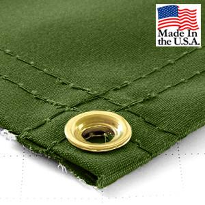 Super Heavy Duty Green Synthetic Canvas Tarps - All Sizes - 14.5oz