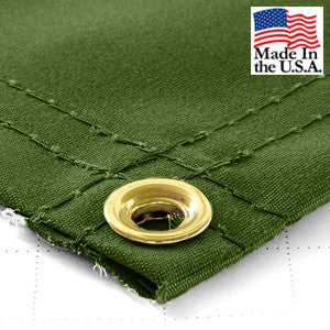6 x 8 Green 14.5oz IronHorse Synthetic Canvas Tarp