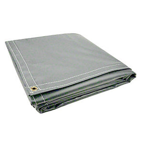 10 x 12 Grey 18oz Vinyl Tarp