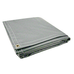 10 x 18 Grey 18oz Vinyl Tarp