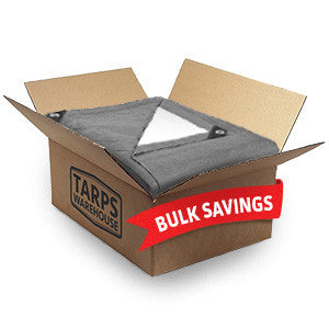 8 x 10 Super Heavy Duty Gray White Poly Tarps - 15 Per Case
