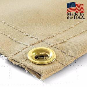Super Heavy Duty Tan Synthetic Canvas Tarps - All Sizes - 14.5oz