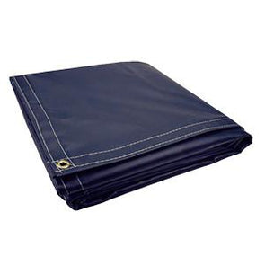 All Sizes 18oz Heavy Duty Vinyl Tarps - Navy Blue - Start at $23.49