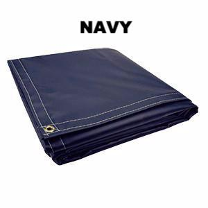 Super Heavy Duty Vinyl Tarps - 22oz Navy - All Sizes - Start at $24.81