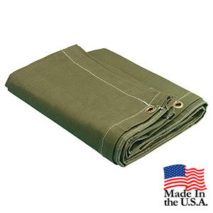 10 x 20 Olive Drab 16oz Canvas Tarp