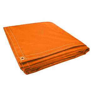 10 x 10 Orange 18oz Vinyl Tarp
