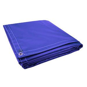 All Sizes 18oz Heavy Duty Vinyl Tarps - Royal Blue - Start at $23.49
