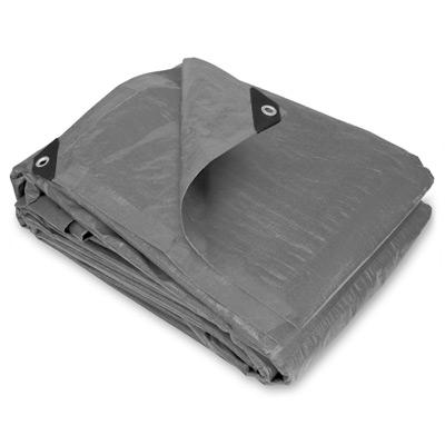 6 x 8 Heavy Duty Silver Poly Tarps - 20 Per Case