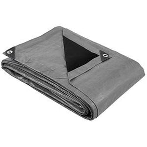Heavy Duty Tarps 30+ Sizes - Silver/Black - Strong 14 Mil Thick Poly Tarps