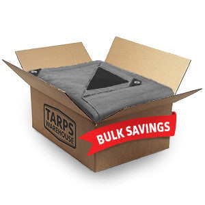 18 x 24 Super Heavy Duty Silver Black Poly Tarps - 3 Per Case