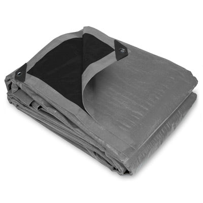 10 x 10 Super Heavy Duty Silver Black Poly Tarp