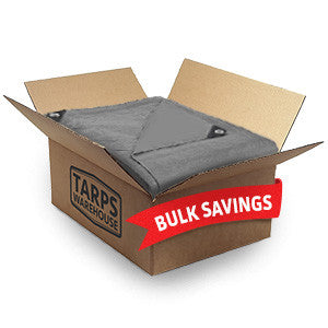 10 x 10 Heavy Duty Silver Poly Tarps - 9 Per Case