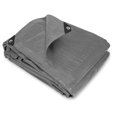 10 x 10 Heavy Duty Silver Poly Tarp