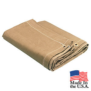 10 x 10 Tan 16oz Canvas Tarp