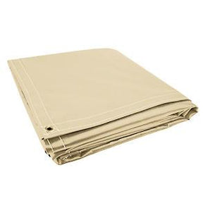All Sizes 18oz Heavy Duty Vinyl Tarps - Tan - Start at $23.49