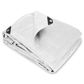 8 x 10 Heavy Duty White Poly Tarps - 16 Per Case