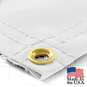 Super Heavy Duty White Synthetic Canvas Tarps - All Sizes - 14.5oz