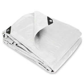 6 x 20 Heavy Duty White Poly Tarp