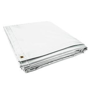 All Sizes 18oz Heavy Duty Vinyl Tarps - White - Start at $23.49