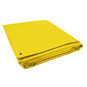 All Sizes 18oz Heavy Duty Vinyl Tarps - Yellow - Start at $23.49