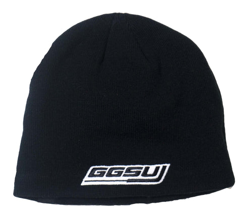Black Beanie with Gray Fleece Lining