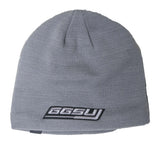Gray Beanie with Black Fleece lining