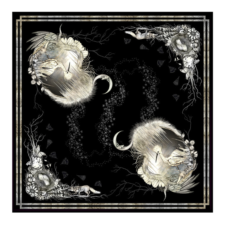 Egret Twilight Silk Scarf