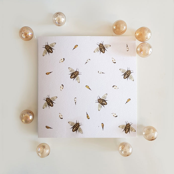 Silver Bees Card