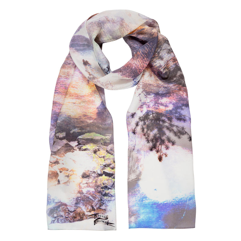 Twilight Silk Skinny Scarf