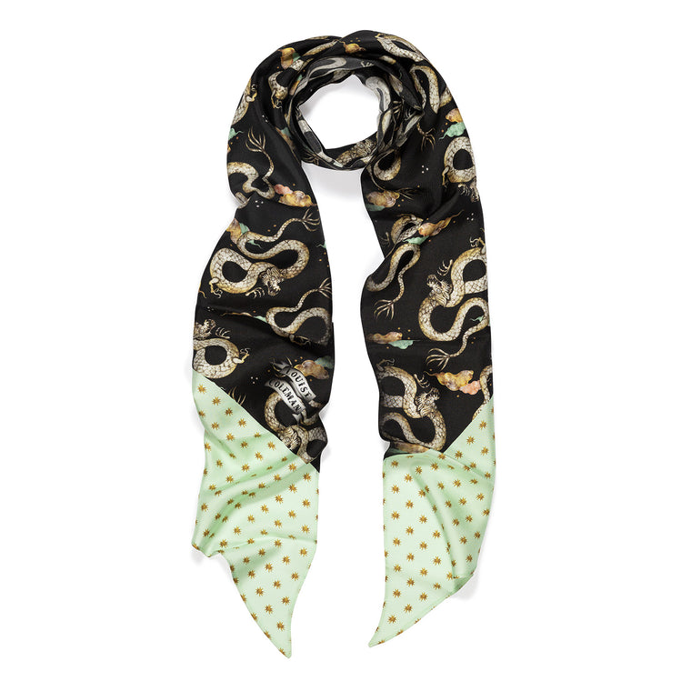 Magic Dragon Midnight Skinny Scarf