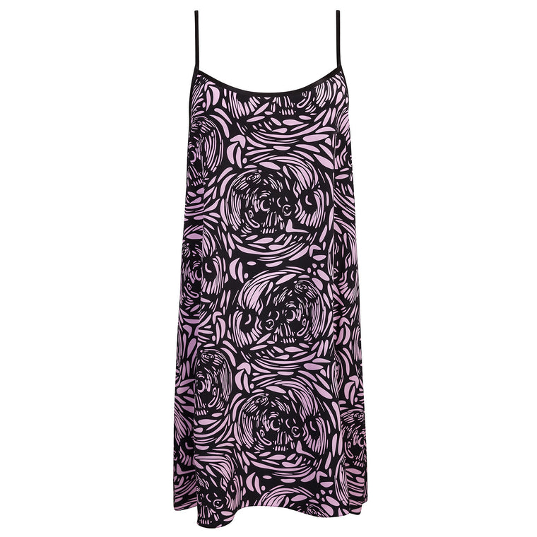 Voodoo Skull Silk Slip Dress