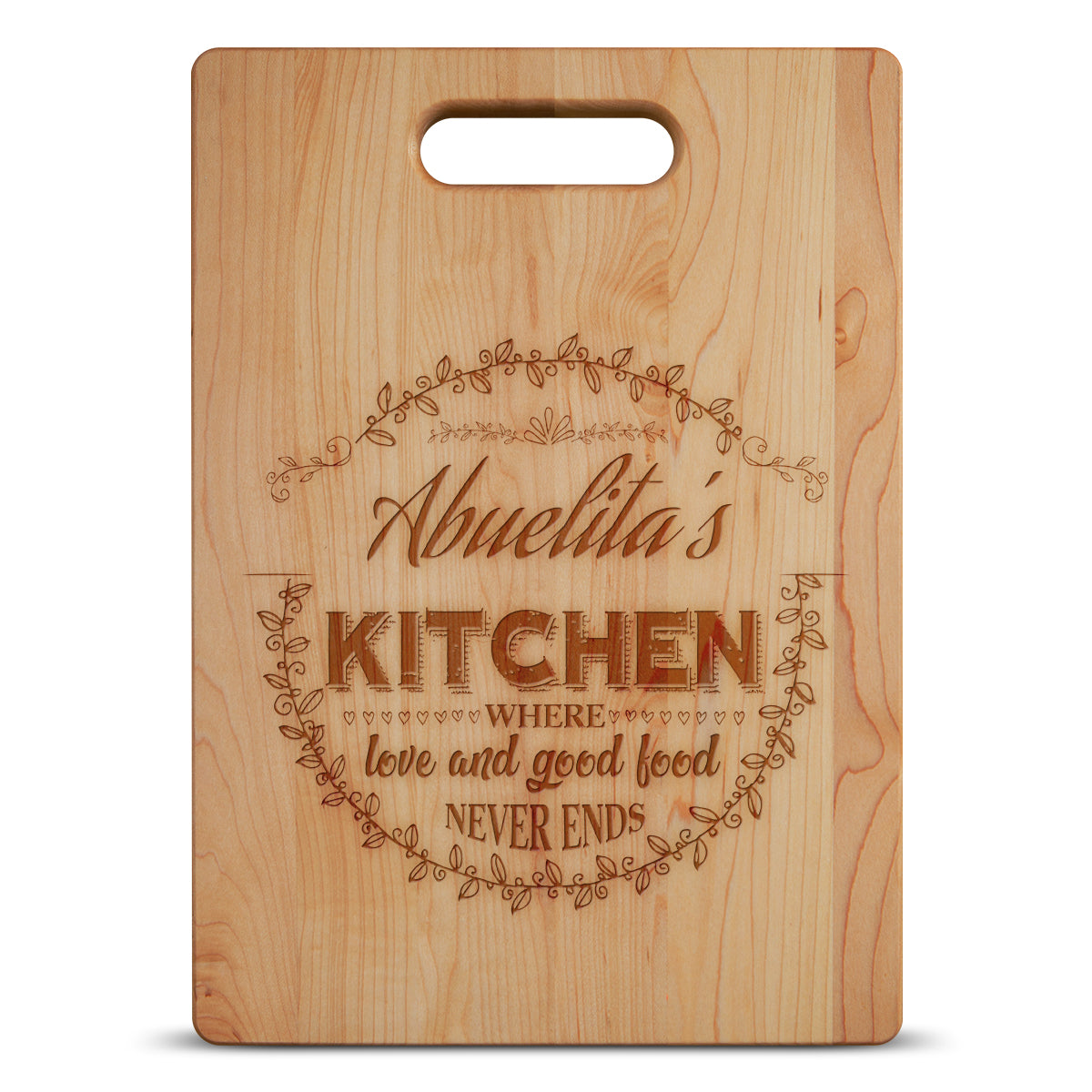 Abuelita's Kitchen Personalized Grandma Maple Cutting Board