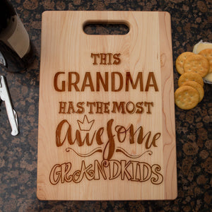 Awesome Grandkids Personalized Grandma Cutting Board